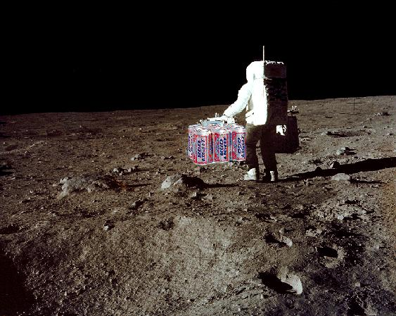 picture of astronaut carrying budlight