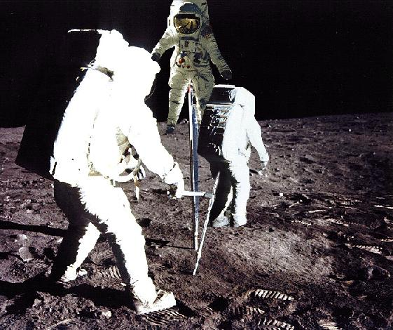 picture of astronauts in some  kind of mating ritual